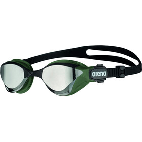 arena Cobra Tri Swipe Mirror Maschera, argento/verde oliva
